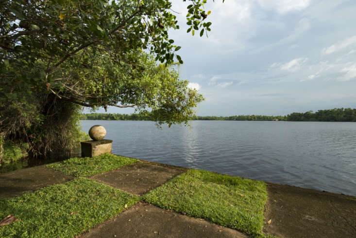 the estate sits on the shore of dedduwa lake. bawa described his retreat as &am 12
