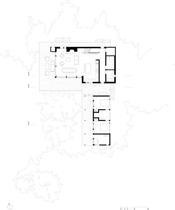 matthew baird architects&#8\2\17; floor plan for the first floor details th 17