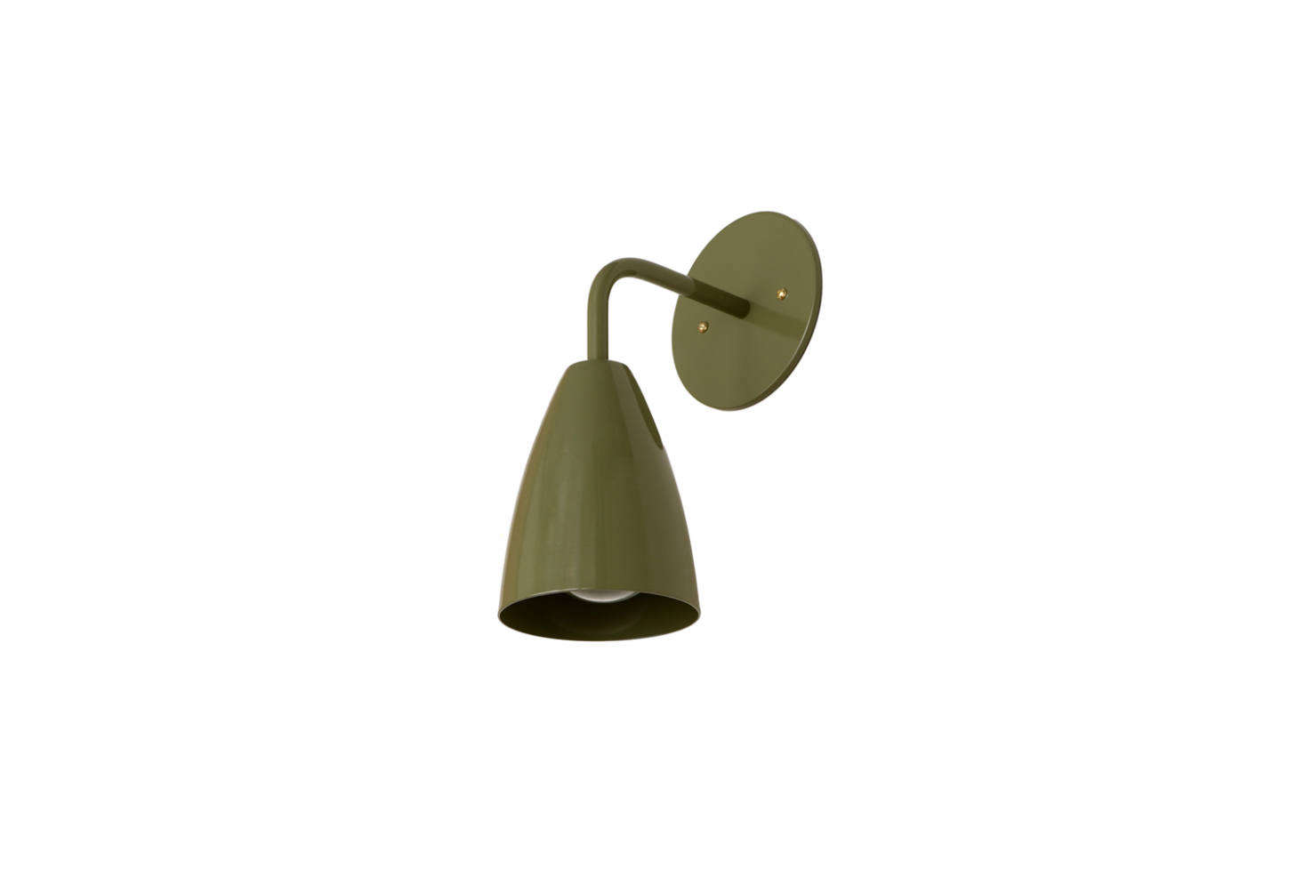 From OneFortyThree, the Shaded Sconce in Solid Colors (shown in Cactus) is $5 directly from OneFortyThree.