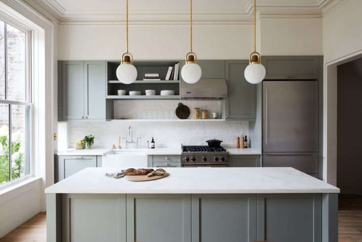 Another Ikea kitchen in Park Slope, this one has Semihandmade fronts painted Farrow & Ball&#8
