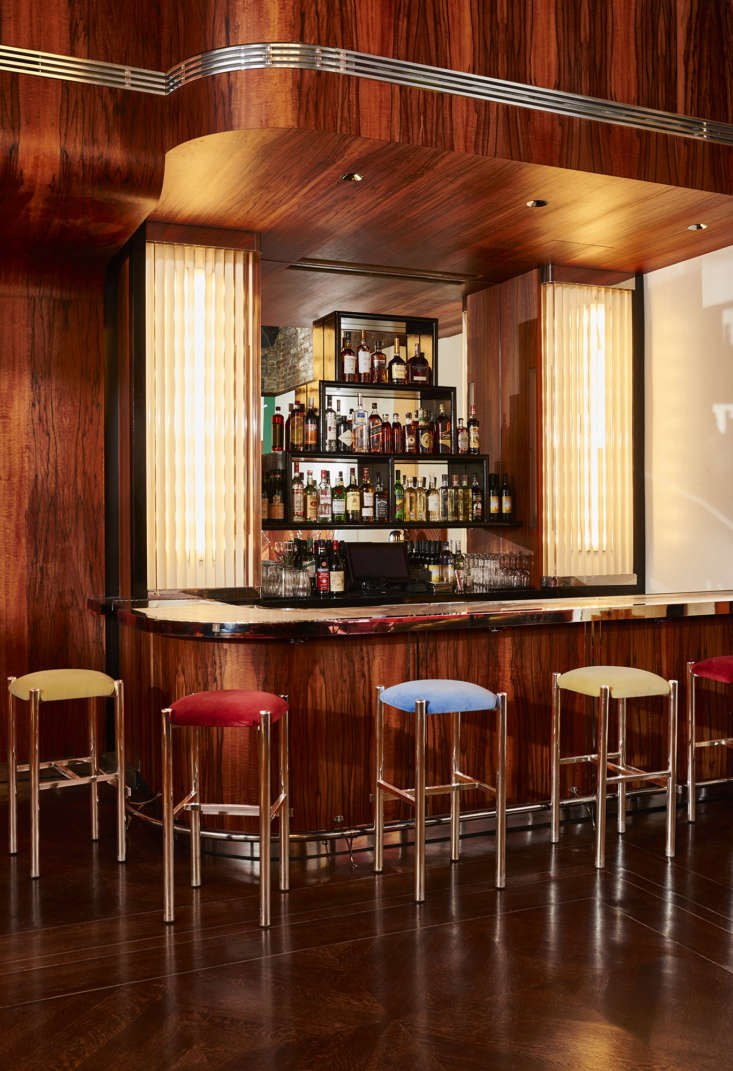 The bar design takes inspiration from Bemelmans Bar in New York and the Redwood Room in San Francisco.