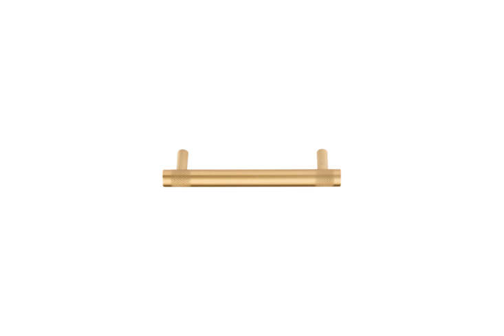 Steal This Look A SemiCustom Kitchen in Brooklyns Sunset Park The drawer pulls areDawson Drawer Pulls in Satin Brass; \$59 each at Rejuvenation.