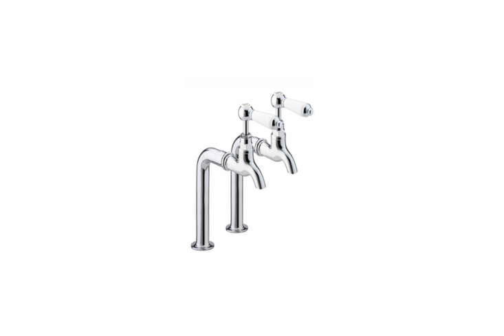 10 Easy Pieces Traditional English Kitchen Taps From Holloways of Ludlow, the Renaissance Bib Taps with lever handles are £\2\18 for the taps with stands.