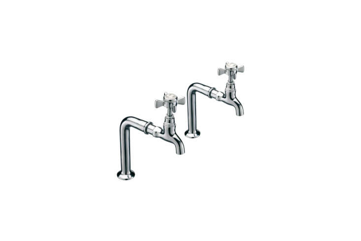 10 Easy Pieces Traditional English Kitchen Taps The Sagittarius Churchmans Kitchen Bib Taps and Stand are £\150.76 from Bath Shop 3\2\1. They&#8\2\17;re also featured in our post \10 Easy Pieces: Editors&#8\2\17; Favorite Kitchen Faucets.