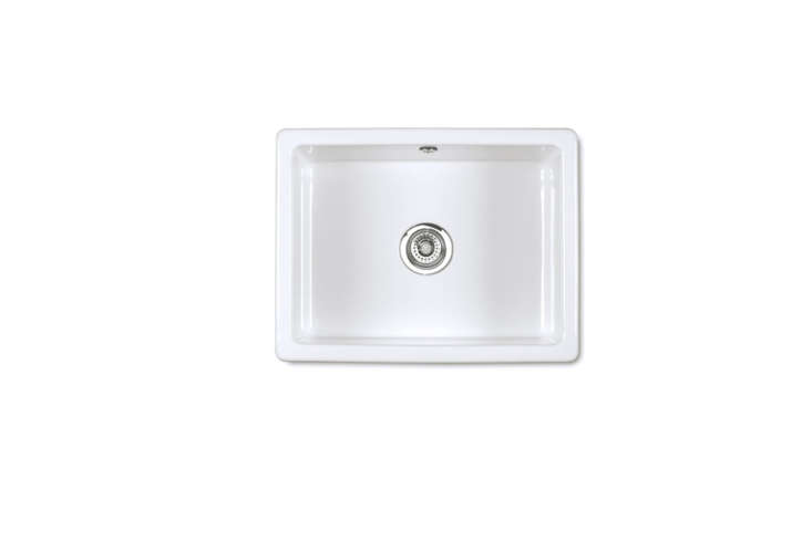 Steal This Look A SemiCustom Kitchen in Brooklyns Sunset Park The Shaws Inset Undermount Sink in 600 White is £39\2 at Shaws.