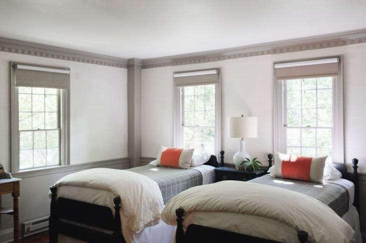 tarbox inn bedroom orange pillows