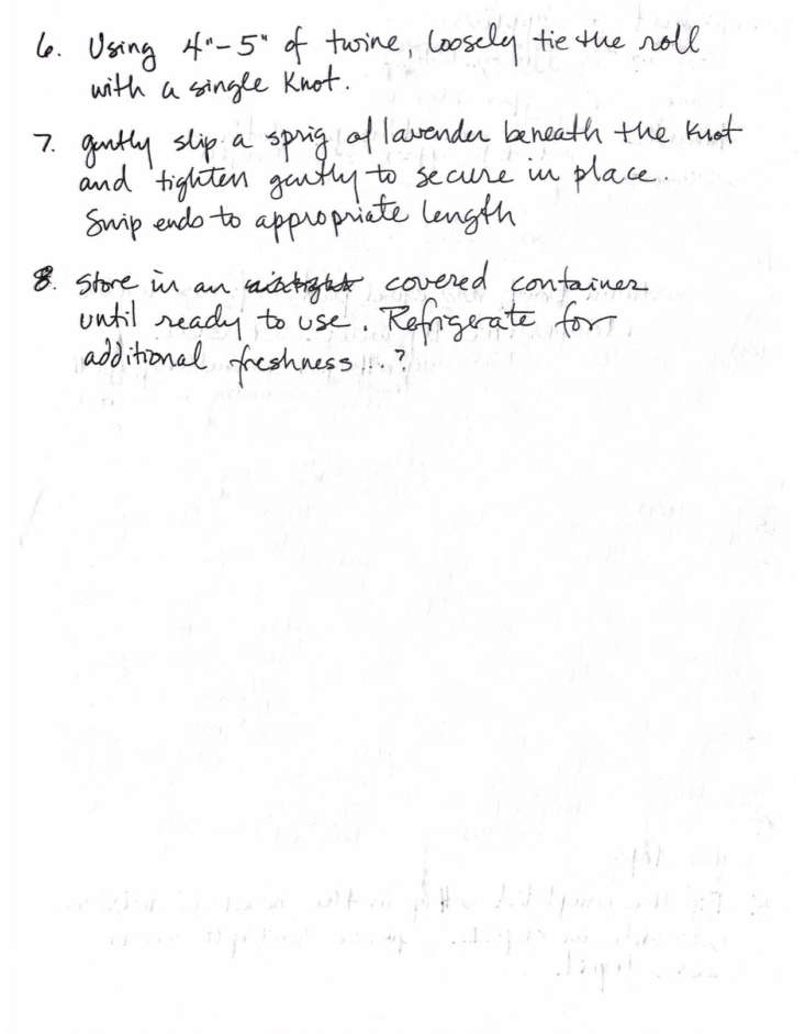 The Lost Kitchen Cooling Cloth Instructions
