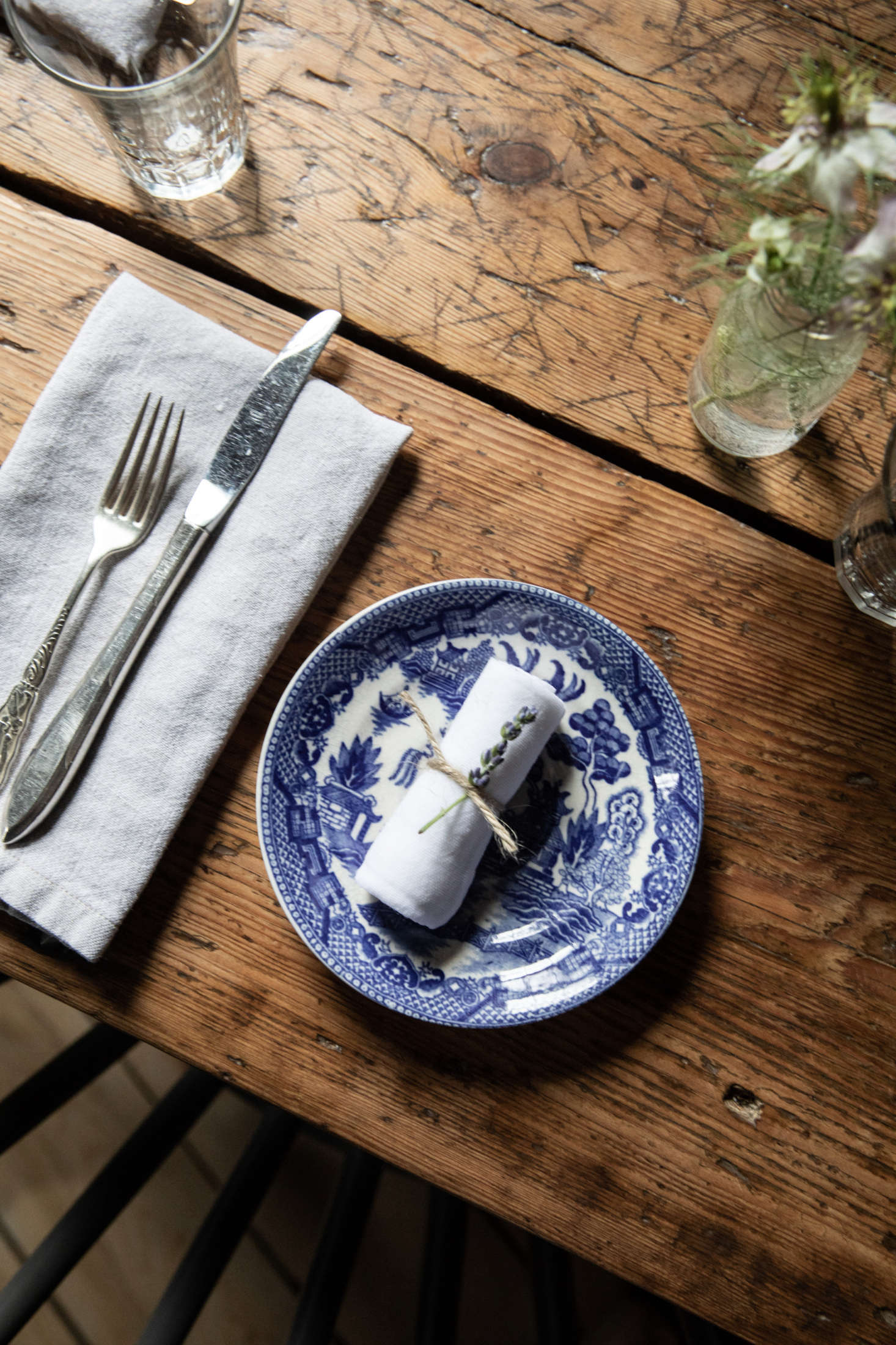 The simple cooling cloths, set out on the table. Photography byGreta Rybusfor Remodelista.
