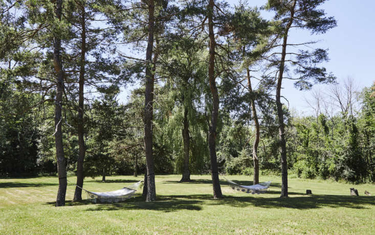get your hammock here: there are four acres of shady lawn. a new event space wi 18