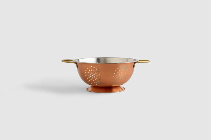 The Copper Colander with a stainless steel interior is $loading=