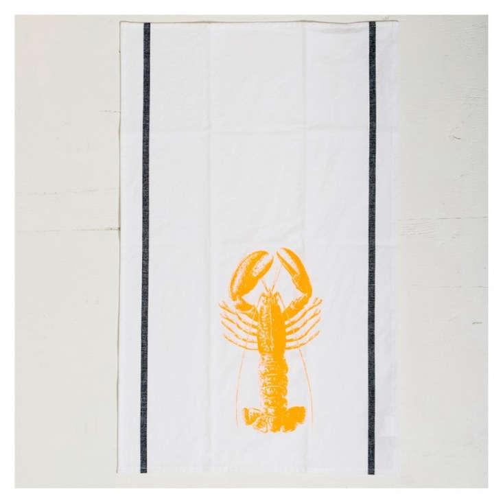 The linenLe Cerise sur le Gateau Lobster Tea Towel is£ from the Conran Shop.