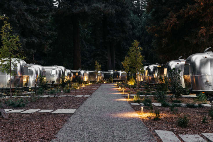 Guest suites are housed in a fleet of custom Airstreams set among the Redwoods in Sonoma&#8