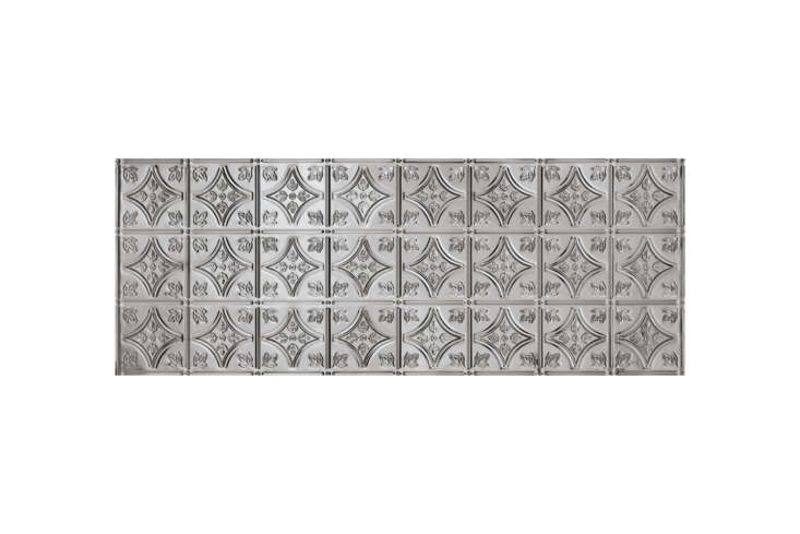 metallaire backsplash panels come in five patterns, including thesmall floral 19