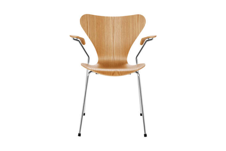 For a new version of the vintage chair, the Arne Jacobsen Series 7 Armchair Wood for Fritz Hansen is $loading=