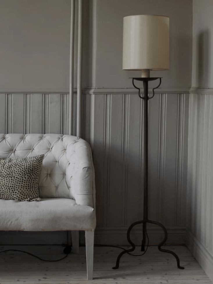 The Astier de Villatte Balthus Floor Lamp is designed by Balthasar Klossowki de Rola; ,000 SEK at Artilleriet.