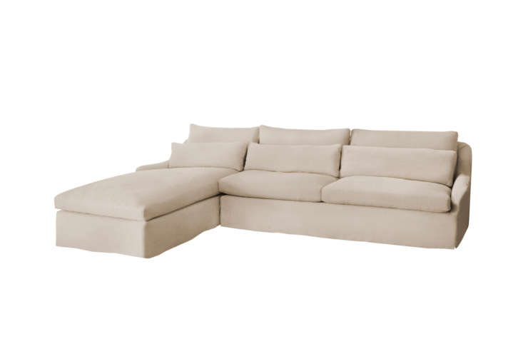 Another style from Cisco Brothers is the Genevieve Sectional in a left- or right-facing chaise sectional and the full suite of upholstery options. Contact Cisco Brothers for pricing and retailer information.