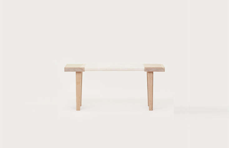 eachpieceis made of white oak; theoak day bench (\$\1,995) is wrapped in  10