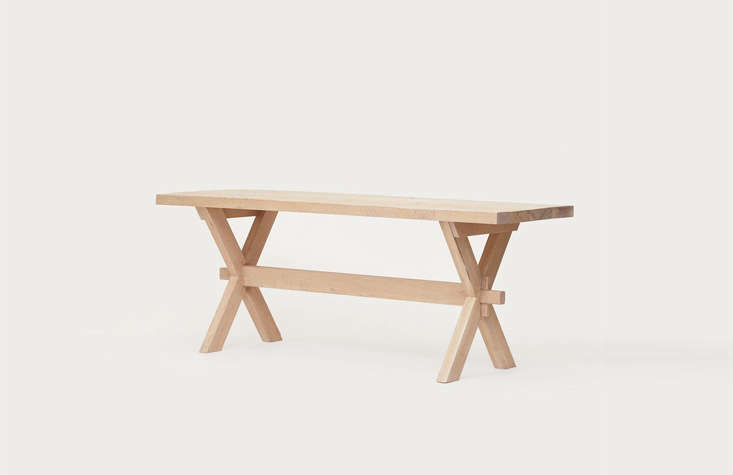 the largest of the collection, the oak entry table, is \$3,995. the pieces are� 14