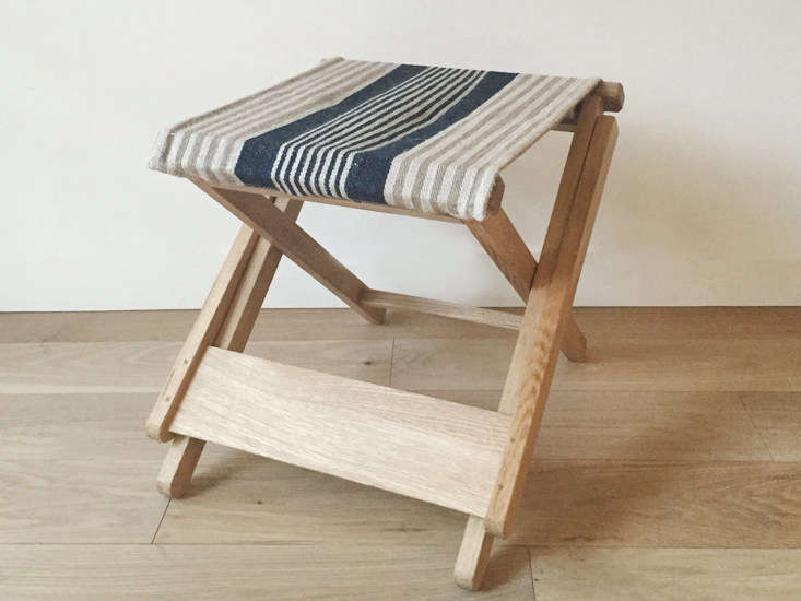makie folding stool vintage striped seat