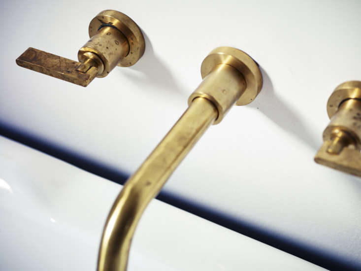 A detail of the Wall-Mounted Basin Taps.