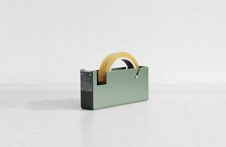 The Japan-made, steelPenco Tape Dispenser from Father Rabbit ($69.90) comes with a slip-resistant pad that prevents slipping and scratching. It can also be affixed to the wall or desk.