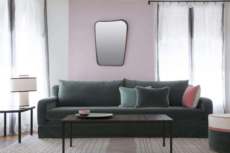 baby pink paint from lavoine&#8\2\17;s ressource line.  d here are a mirror 11