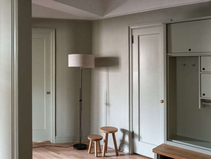 The Workstead Shaded Floor Lamp is adjustable from 5