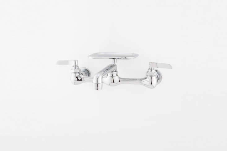 The Wall-Mount Faucet with Soap Tray and Lever Handles in chrome is $9.95 at Signature Hardware.
