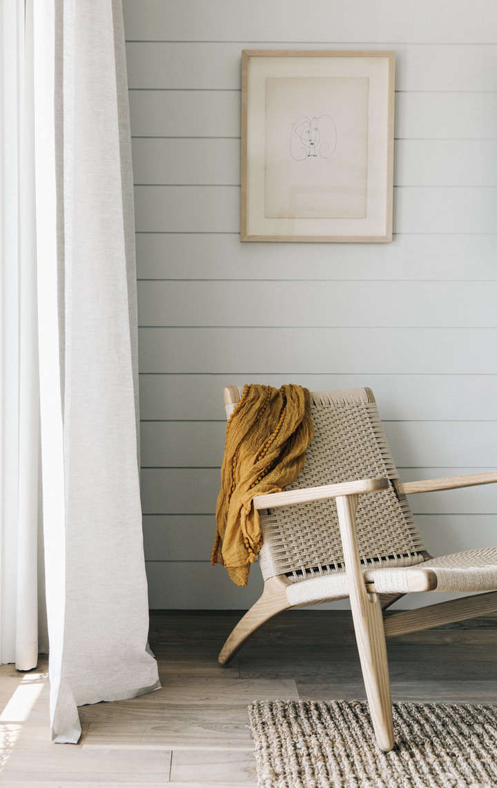 the furnishings are custom designs by two california outfits:croft house and  14