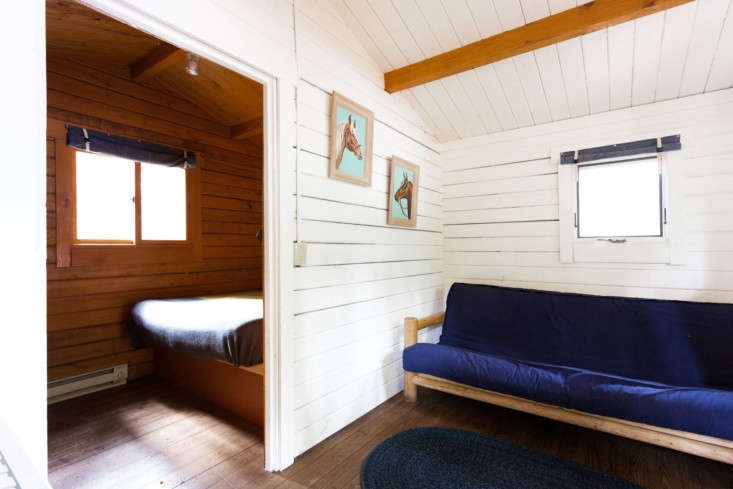 The smaller cabins provide more rustic accommodations.