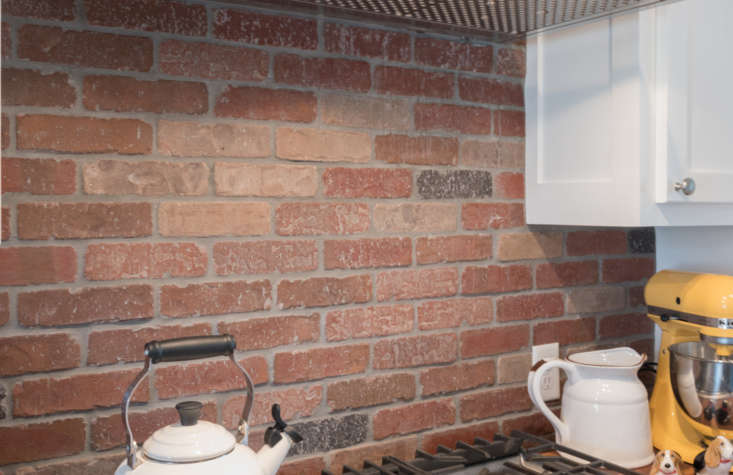 An example of thin brick used as a kitchen backsplash. Photograph courtesy of the Brick Industry Association.