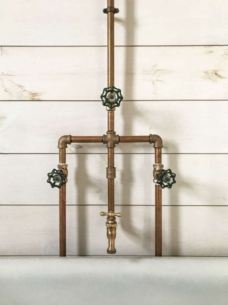 Vintage valve handles and garden spigots can both be easily sourced on eBay and Etsy.
