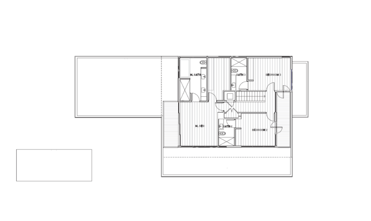 there are three bedrooms and three baths on the second floor, plus a front balc 26