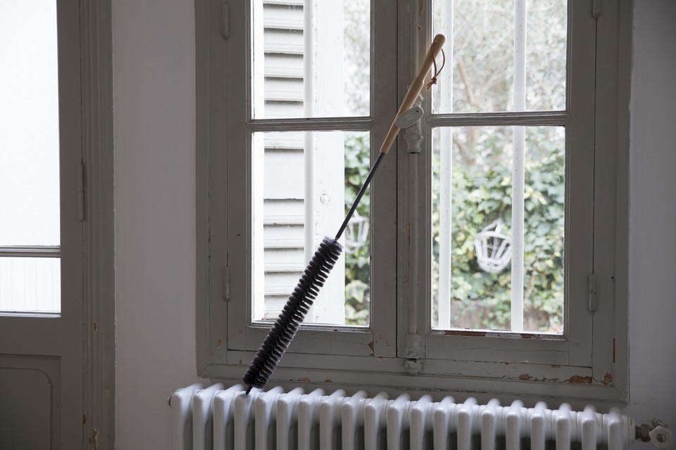 Fan uses a traditional French radiator brush: &#8