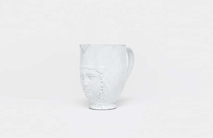 the visage pitcher is handmade in paris by astier de villatte; \$\180 from moha 12