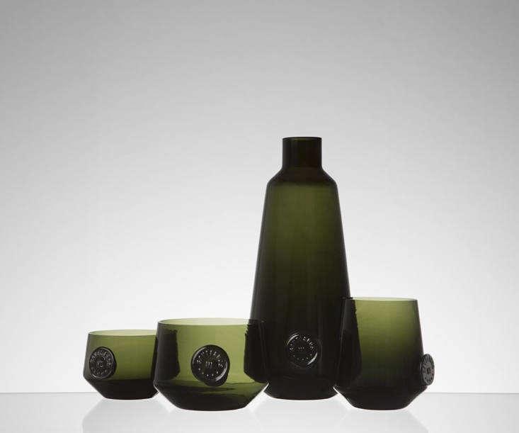 atelier an dark green glass
