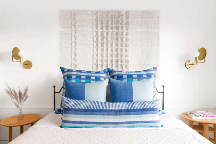 the collection in azure.the long lumbar size is a bestseller, says hana. 11
