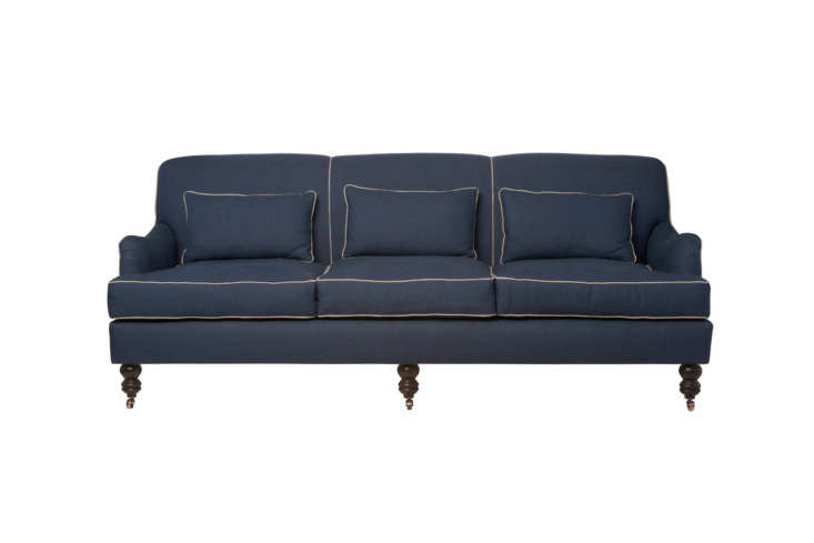 Another, more ornate style from Cisco Brothers, the Beaumont Sofa has roll arms, legs on casters, and piping. Contact Cisco Brothers for price and dealer information. It can also be found for $3,8 at Collyer&#8