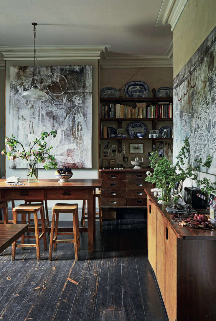 Required Reading An Artist Couples Hauntingly Beautiful Quarters Courtesy of Perfect English Townhouse Thanks to a tip off from a salvage dealer, the couple collected more lab castoffs from the horticultural department of St John&#8\2\17;s University in York.