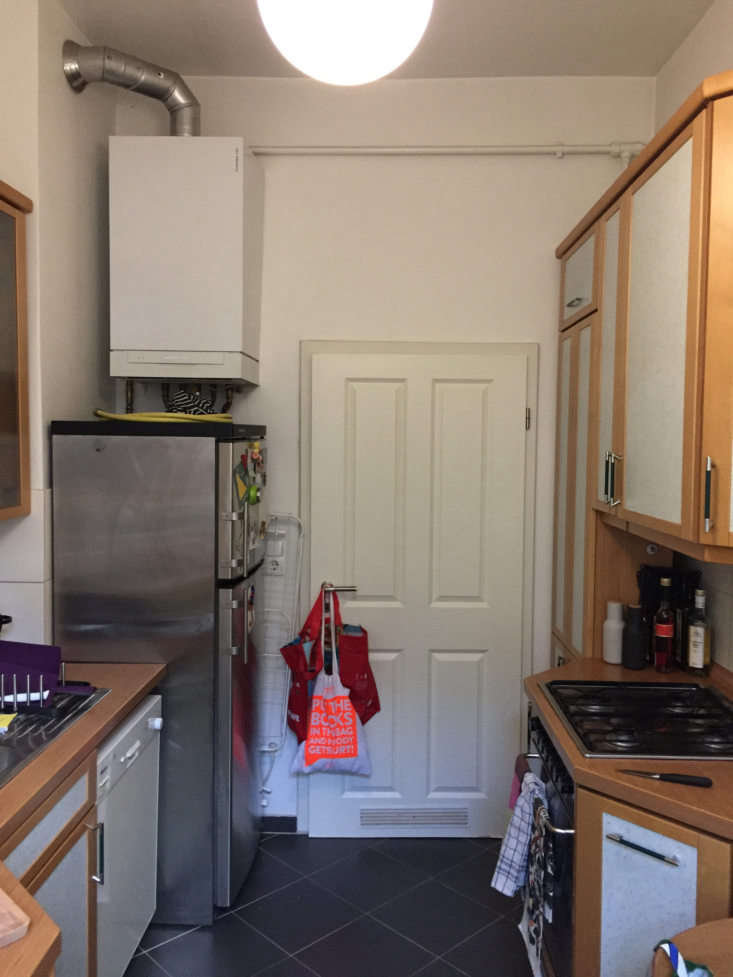 a view of the former kitchen, photographed by the client. 19