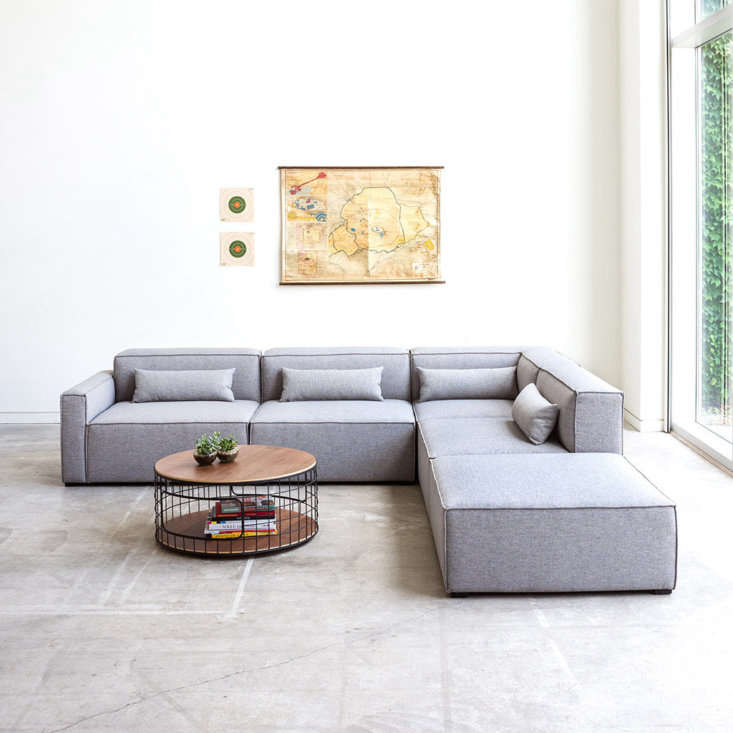 the gus modern mix modular sofa is made up of eight basic components (left arm, 16