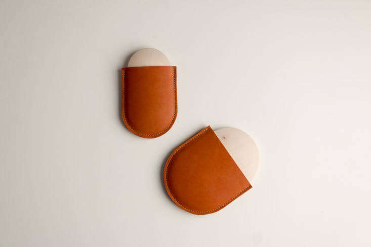 Pocket Mirrors in vibrant leather.