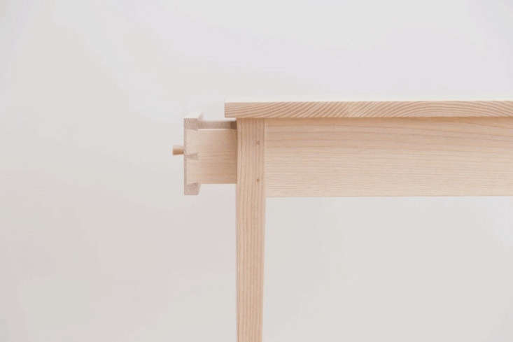 Traditional joinery on the small drawer.