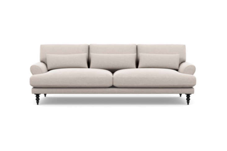 Apartment Therapy founder Maxwell Ryan was inspired by the De Padova sofa (above) for his design of the Maxwell Sofa for Interior Define. It features turned wood legs and comes in a range of options for upholstery; $loading=