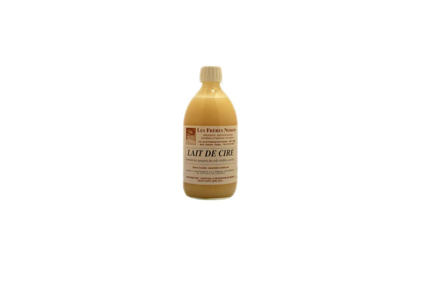 How to make the French parquet shine like laTour Eiffel? With Lait de Cire (Wax Milk), a solution made of beeswax for maintaining and reviving wood floors; €