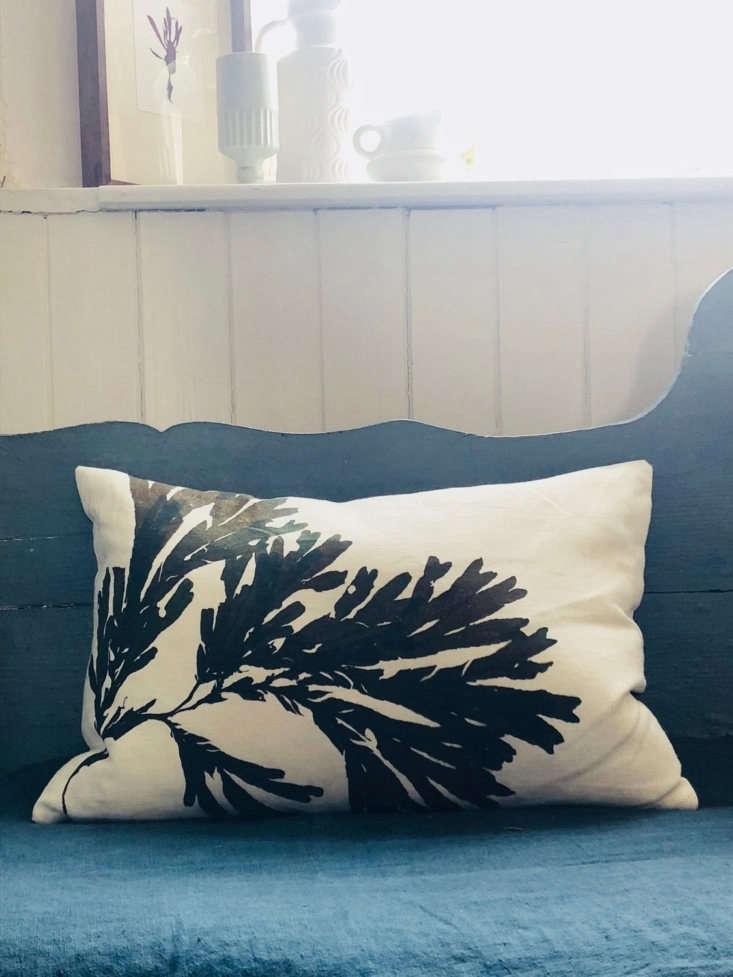 molesworth and bird linen seaweed cushion
