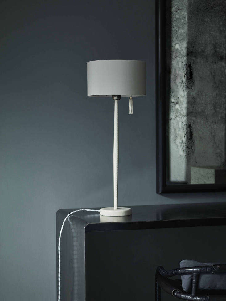 The Sungaya Table Lamp in off white.