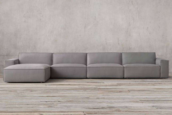even restoration hardware jumped on the clunky modular sofa bandwagon with thei 17