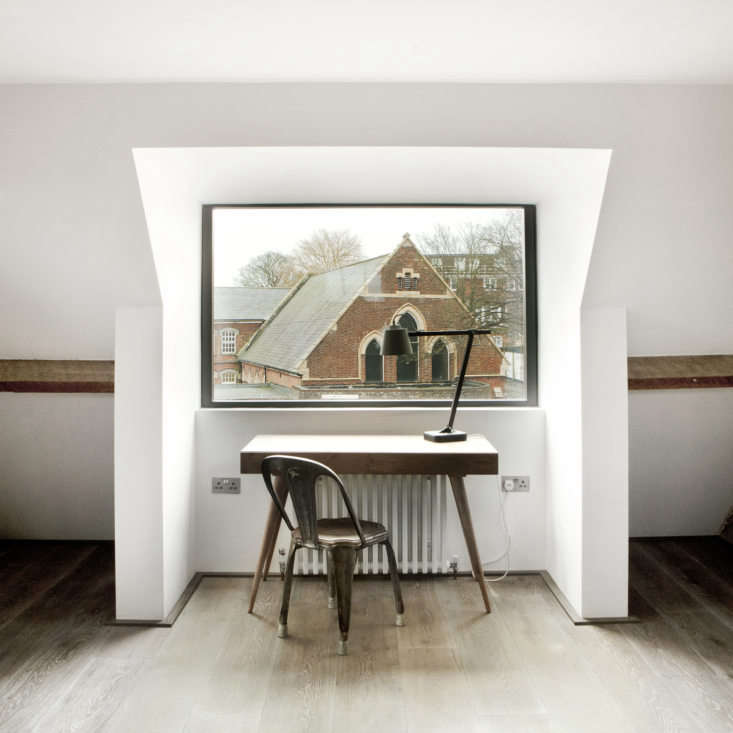 A new dormer window in the main bedroom affords a view over Conduit Hill towardsAustin Friar&#8