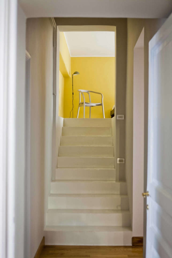 A short stairway past the kitchen leads to a &#8